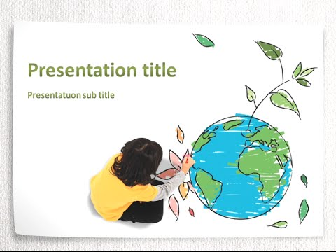environmental protection animated ppt template