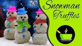 Snowman Truffles Recipe | Christmas Recipes | Instant Recipes | Holiday Recipes