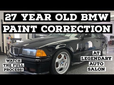 27 YEAR OLD BMW PAINT CORRECTION AT LEGENDARY AUTO SALON