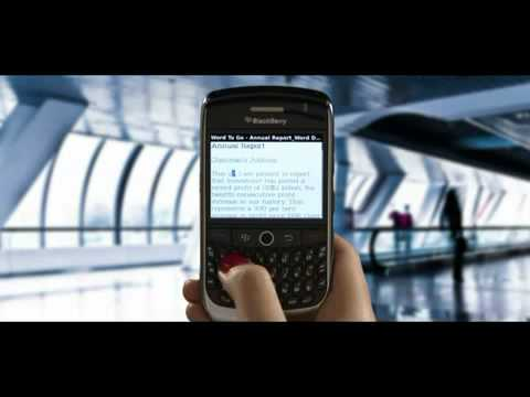 BlackBerry Curve 3G 9300 ad promo for Optus