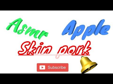 Asmr,apple And Pork Skin..