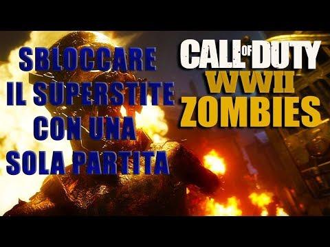 Come Sbloccare il Personaggio Segreto Superstite in Una Sola Partita Cod WW2 Zombies