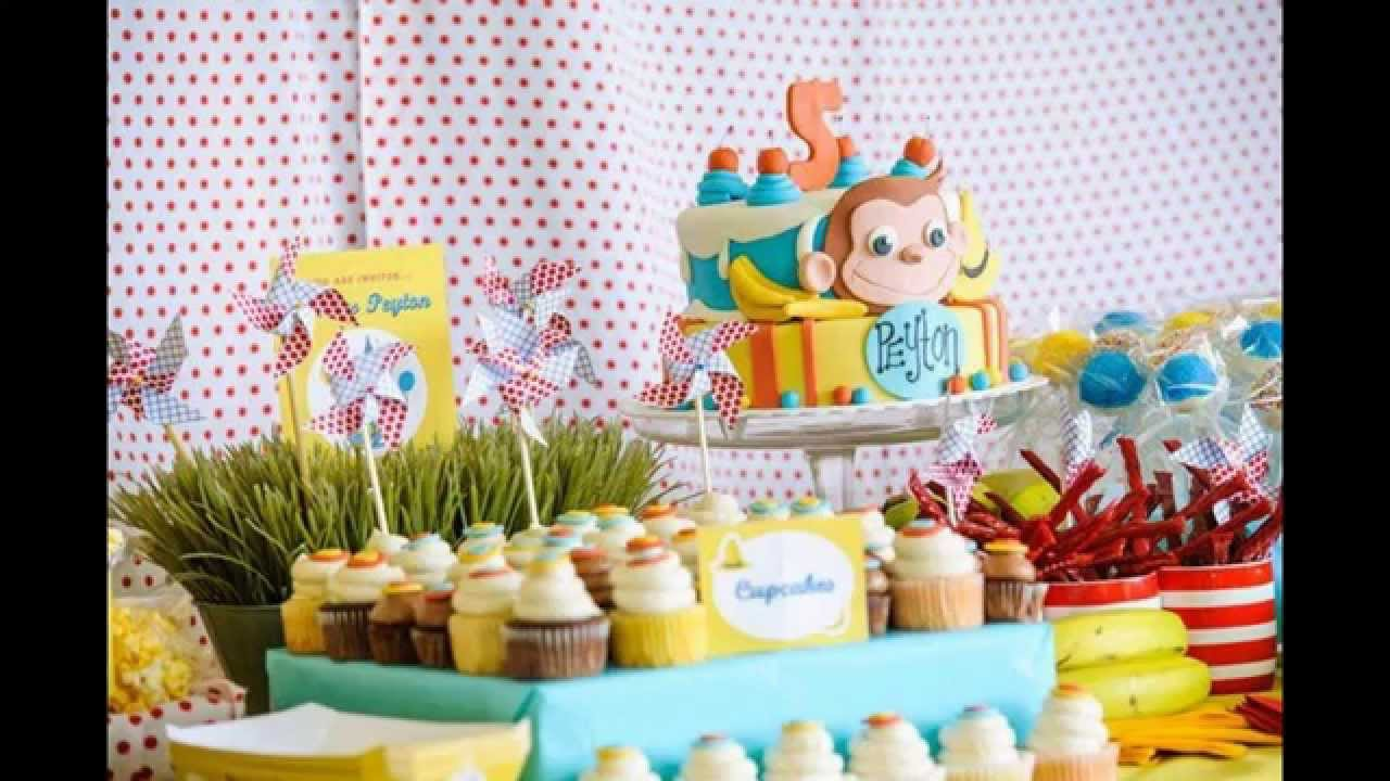 Cool Curious George Birthday Party Decorations Ideas