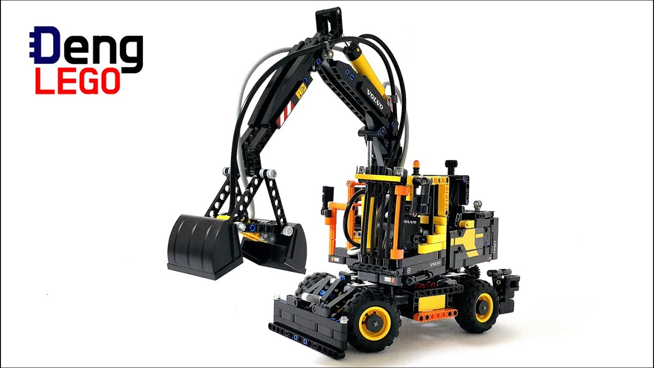 lego technic volvo bagger auto bild idee. Black Bedroom Furniture Sets. Home Design Ideas