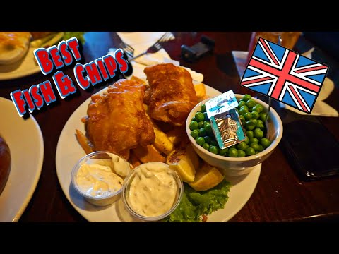 Authentic BRITISH Food | BEST Fish And Chips