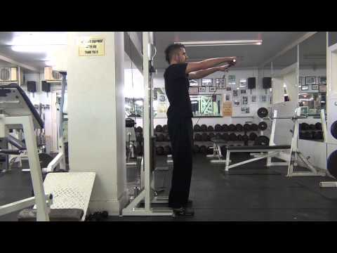 Straight Bar Cable Anterior Raises