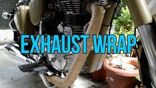 EXHAUST WRAP INSTALL ON A BIKE .