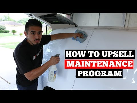 HOW To UPSELL Your Maintenance Program: Car Detailing Business Advice (Action Plan Included)