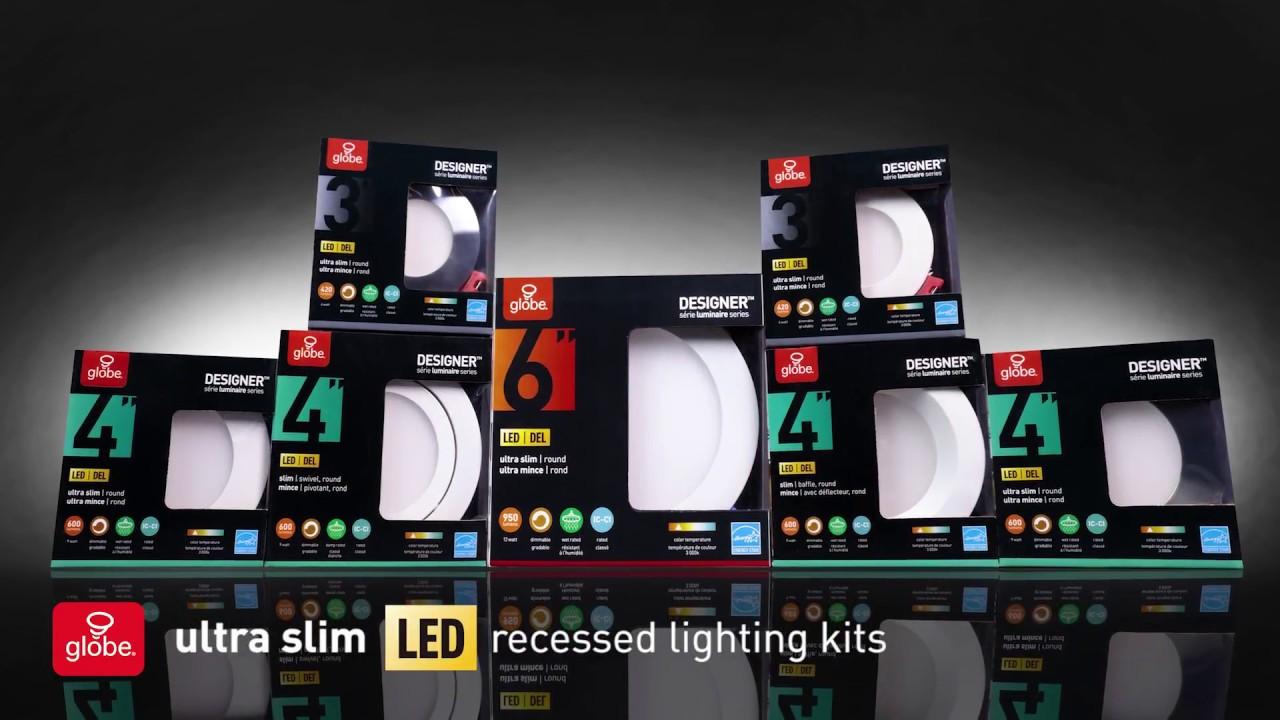 Ultraslim Led Recessed Lighting Kits Youtube Integrated Light Wiring Diagram