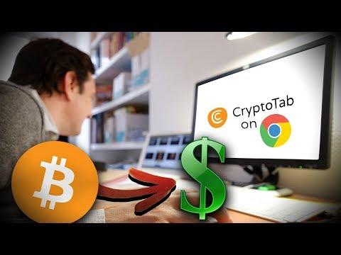 Gagnez De L'argent Sans Rien Faire Grâce à CryptoTab ! (1 Bitcoin/mois?!)
