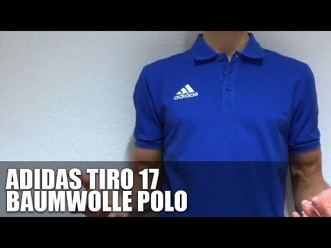adidas Tiro 17 Poloshirt Dunkelblau Rot
