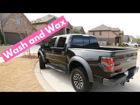 WASH and WAX on a Black 2014 Ford Raptor  Rinseless Car Wash Tips