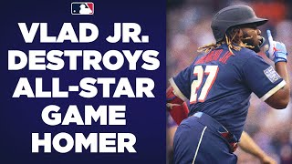 Vladimir Guerrero Jr. DESTROYS All-Star Game homer while Fernando Tatis Jr. is mic'd up!