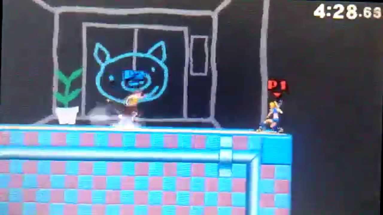 Super Smash Bros.4 (3DS) Zero Suit Samus Vs. Wii Fit ...