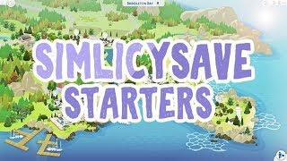 SIMLICY SAVE FILE STARTERS! || The Sims 4