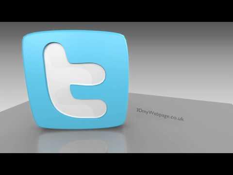 Spinning Animated Twitter logo
