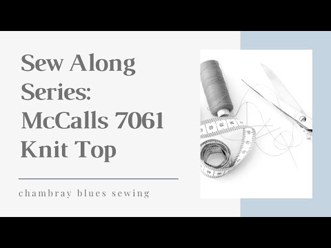 Sewing McCalls 7061 Part 2