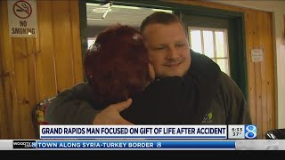 Grand Rapids man focused on gift of life after accident
