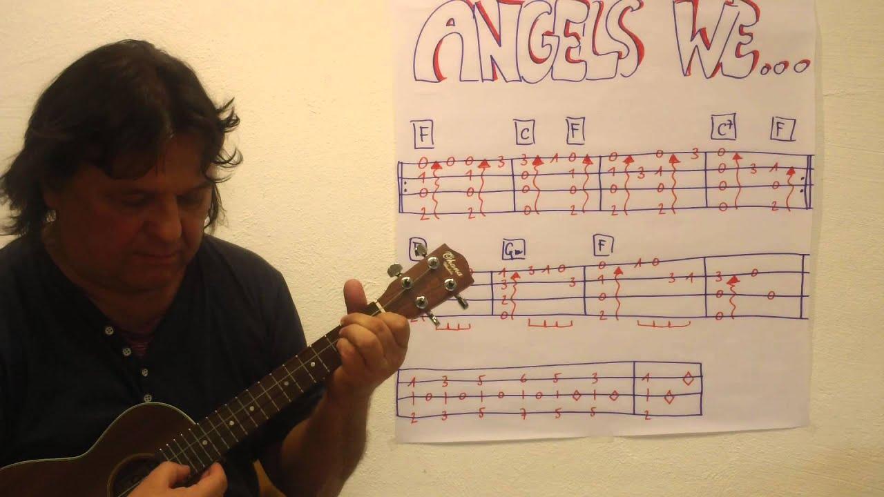 Christmas Ukulele Lesson 2 Angels We Have Heard On High