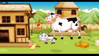 Развиваша. Веселая ферма. Строим дом для животных. Мультик про домик. Мультики для детей. Мультфильм