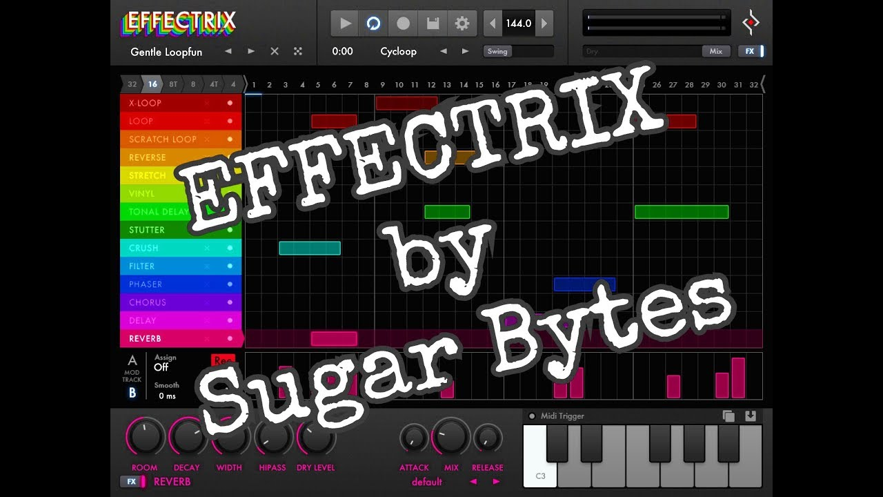 effectrix by sugar bytes demo and tutorial for the ipad youtube. Black Bedroom Furniture Sets. Home Design Ideas