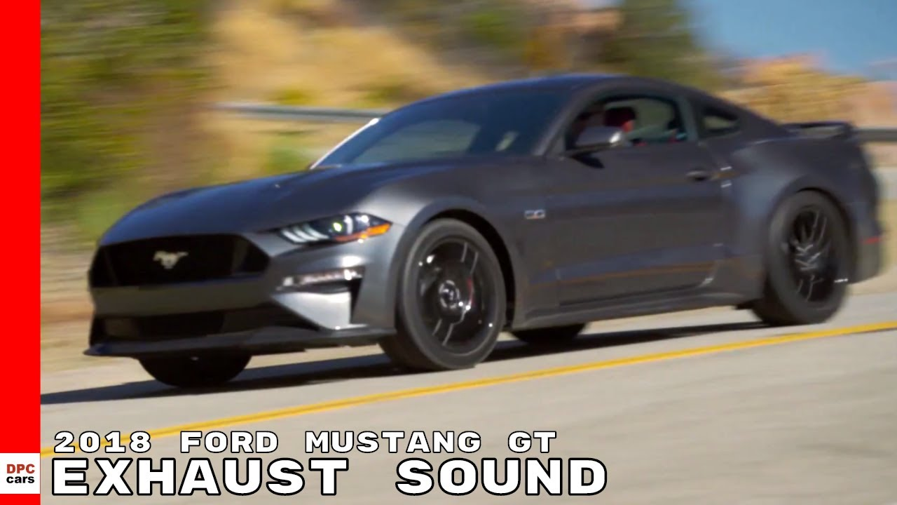2018 ford mustang gt 5 0 coupe test drive exhaust sound