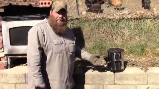 Improvised Small Forge with Rocket Stove