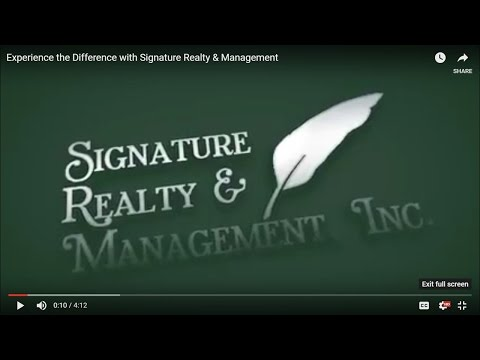 Experience the Difference with Signature Realty & Management