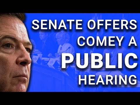 Senate Panel Accepts James Comey's Offer to Testify Publicly