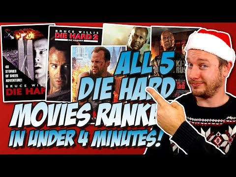 All 5 Die Hard Movies Ranked Worst to Best in Under 4 Minutes