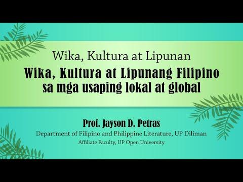 Wika, Kultura at Lipunang Filipino sa mga Usaping Lokal at