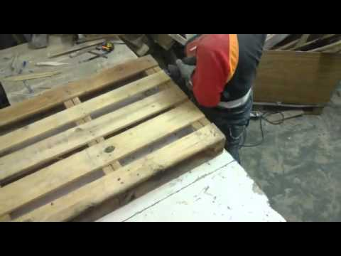 desguase rapido de palets madera paso