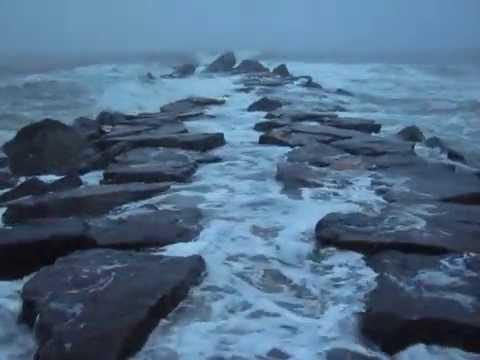 Deal nj surf fishing whitehall ave jetty high tide youtube for Surf fishing nj license
