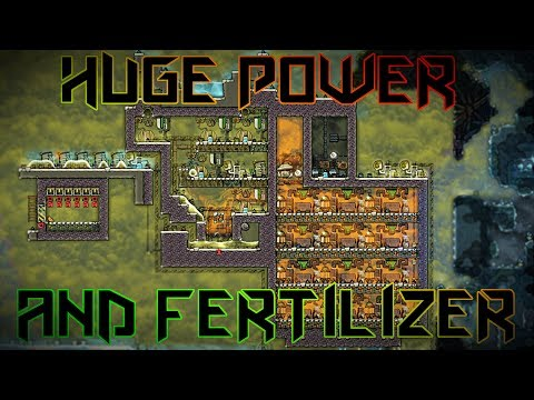 Fertilizer Gas Geyser Power Plant Experiment! Oxygen Not Included
