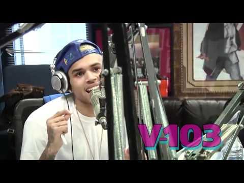 "Chris Brown ""Love Music"" on V-103 (Acapella)"