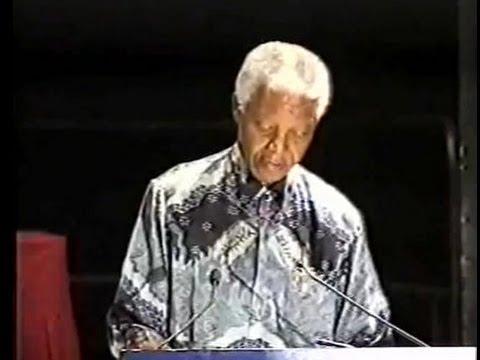 Professor Anne Buttimer awards Nelson Mandela - additional footage - Durban, 2002.