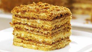 Торт за 30 минут МЕДОВЫЙ ПУХ или Ленивый Медовик Без раскатки коржей Самый ПРОСТОЙ рецепт Cake