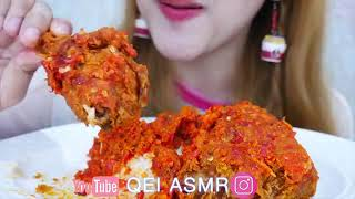 ASMR Indonesian food | #ASMR ayam KFC 🔥hot