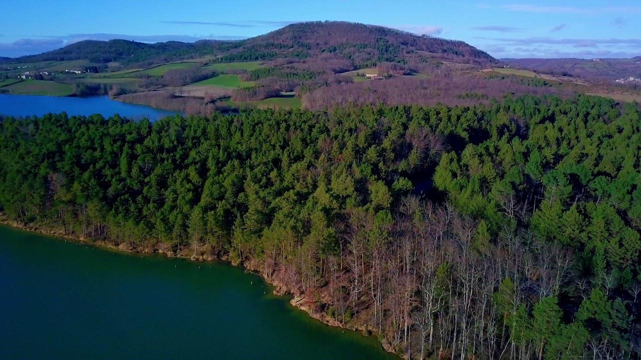 Le lac de Montbel, Ariège, en drone de Kmmprod