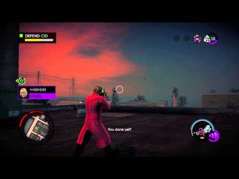 Saints Row IV Re-Elected PS4 Help The AI Enter The Simulation 1 Walkthrough Gameplay Mission