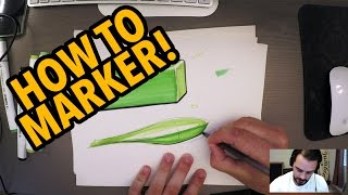 Industrial Design Sketching - How to Sketch with Markers!