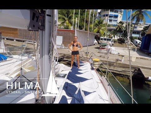 Hilma Sailing, maintaining Hilma and geocaching at  Martinique , Ep 17