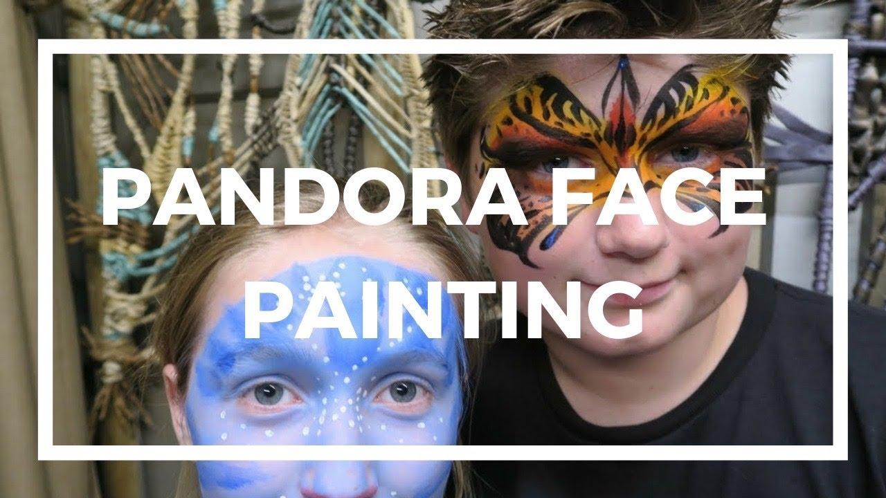banshee face painting at pandora the world of avatar