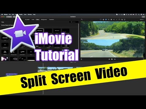 IMovie Tutorial - Split Screen Side By Side Video How To