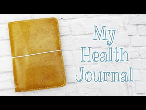 My Health and Weight loss Journal || Health Tracking in a Hobonichi A6 || Wellness Journal