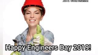 Happy Engineers Day 2019 | Happy Engineers Day Whatsapp Video status | September 15 Engineers day