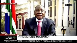 [FULL SPEECH] President Ramaphosa's address on recent violence in SA