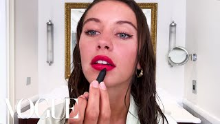 Iris Law's Guide to Glowing Skin and a Red Lip | Beauty Secrets | Vogue