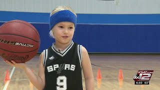 SA 5-year-old girl's basketball skills may lead her to WNBA dream