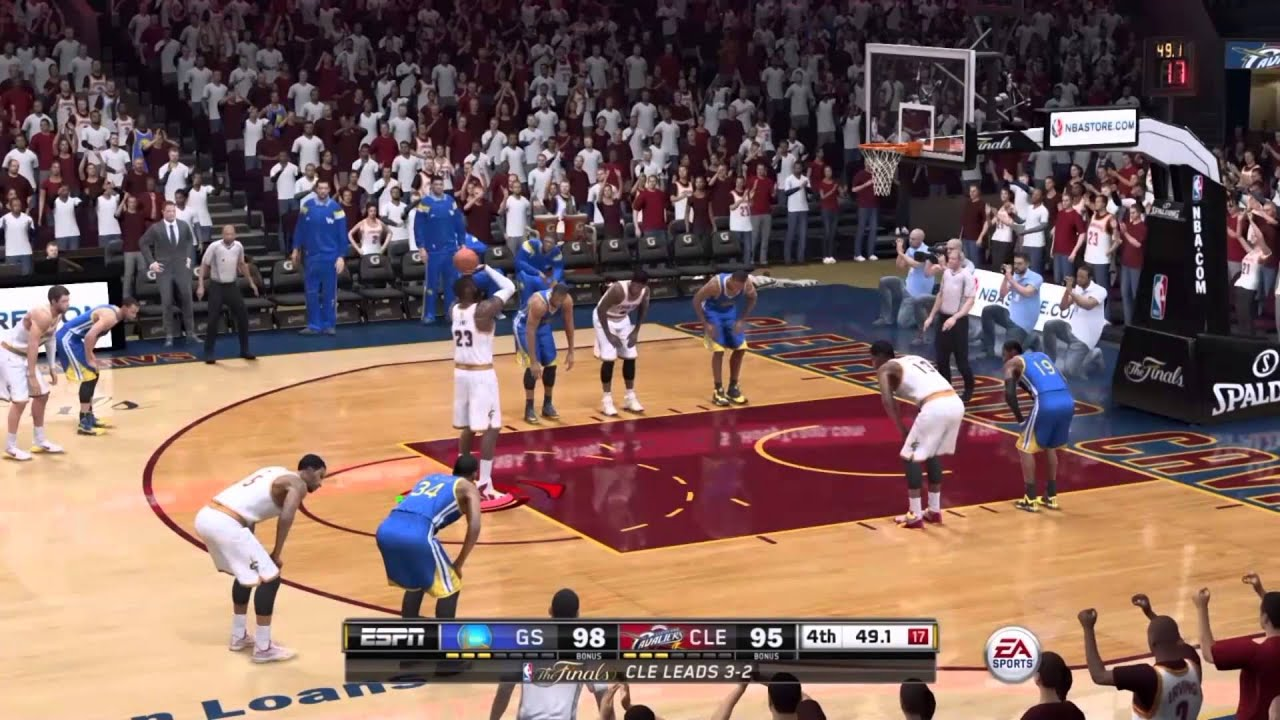 NBA Live 15 - Clutch Final Minutes - Comeback is Real - Cavs vs Warriors - YouTube